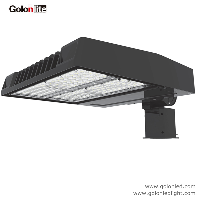 American Electric Lighting Products: 150w LED Shoe Box Light Daylight Motion Sensor 100-277V