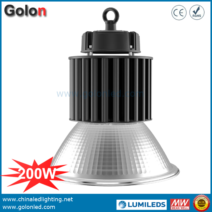 200W LED High Bay Light Industrial Warehouse Lighting With